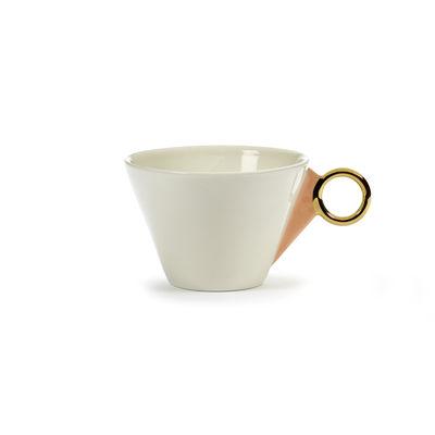 Arts de la table - Tasses et mugs - Tasse à thé Désirée - Serax - Tasse / Blanc, or & rose - Porcelaine