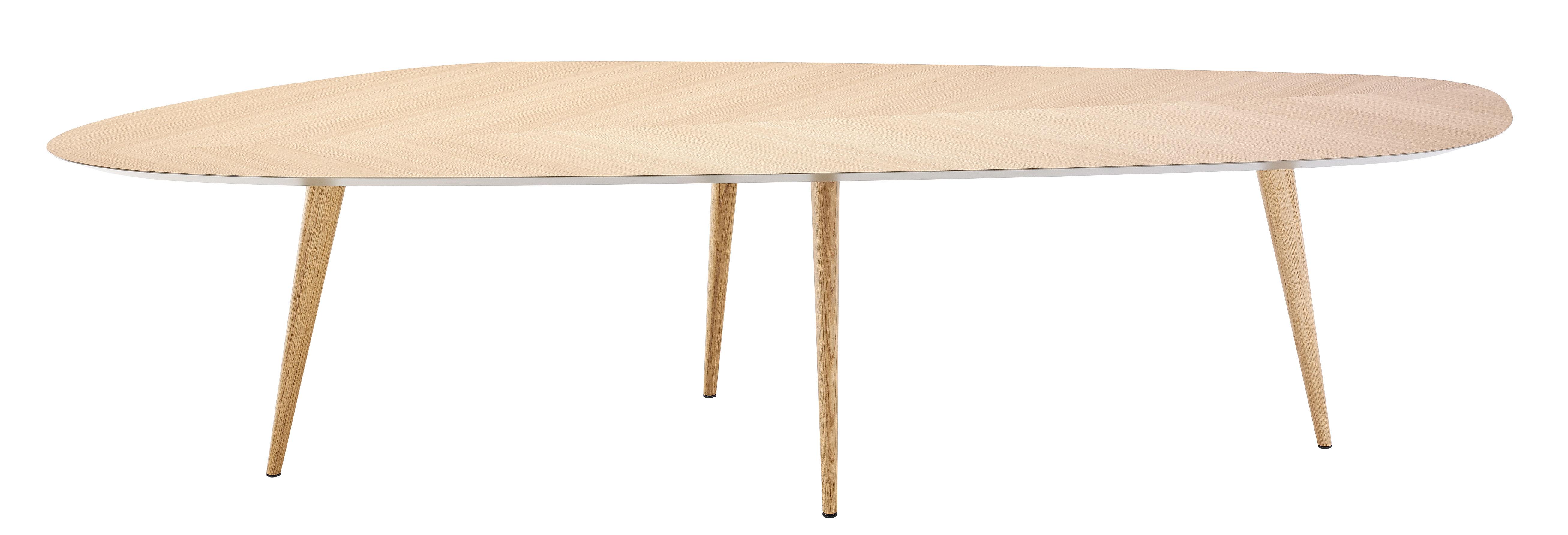Arredamento - Tavoli - Tavolo ovale Tweed - / 300 x 100 cm - 10 persone di Zanotta - Rovere / Parte inferiore del top: grigio -   Bois plaqué chêne, Rovere massello