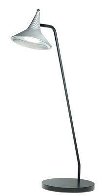 Unterlinden LED Tischleuchte / H 51,5 cm - Metall, patiniert - Artemide - Schwarz,Aluminium vieilli