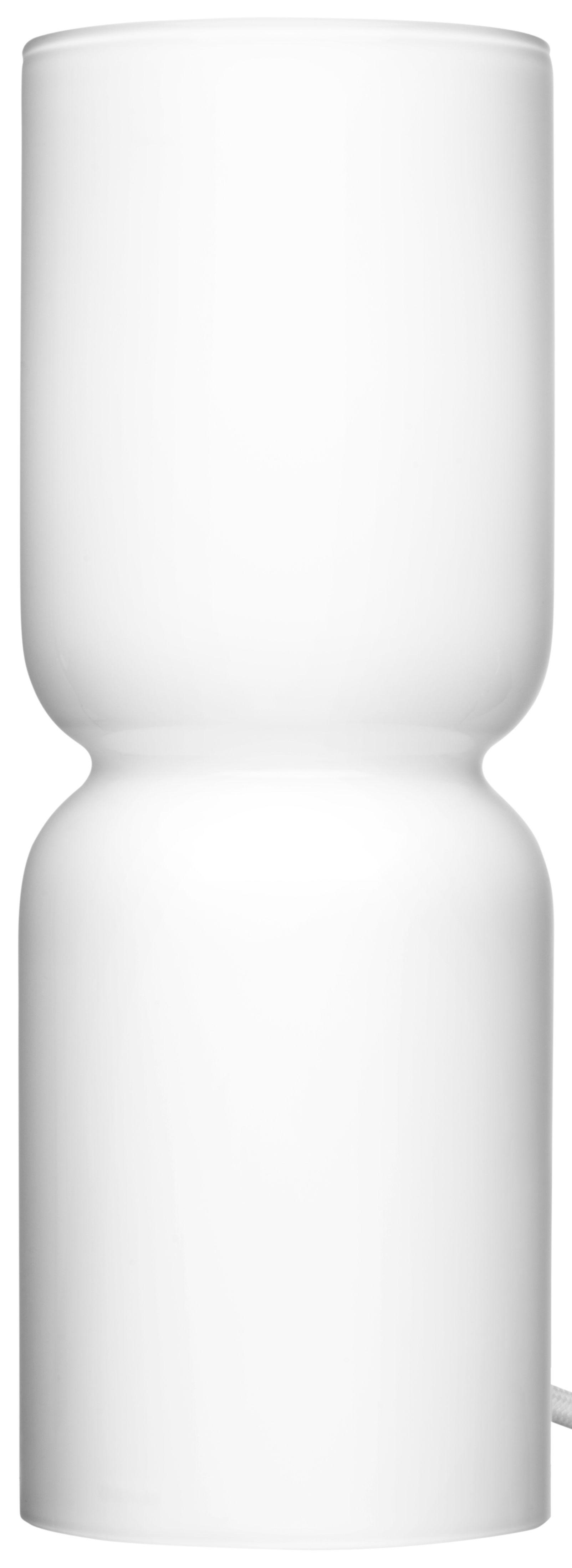 Leuchten - Tischleuchten - Lantern Tischleuchte / H 25 cm - Iittala - Weiß - geblasenes Glas