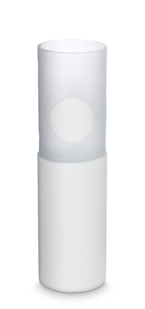Déco - Vases - Vase Carved Tall / Ø 17 x H 30 cm - Tom Dixon - Blanc - Verre soufflé bouche
