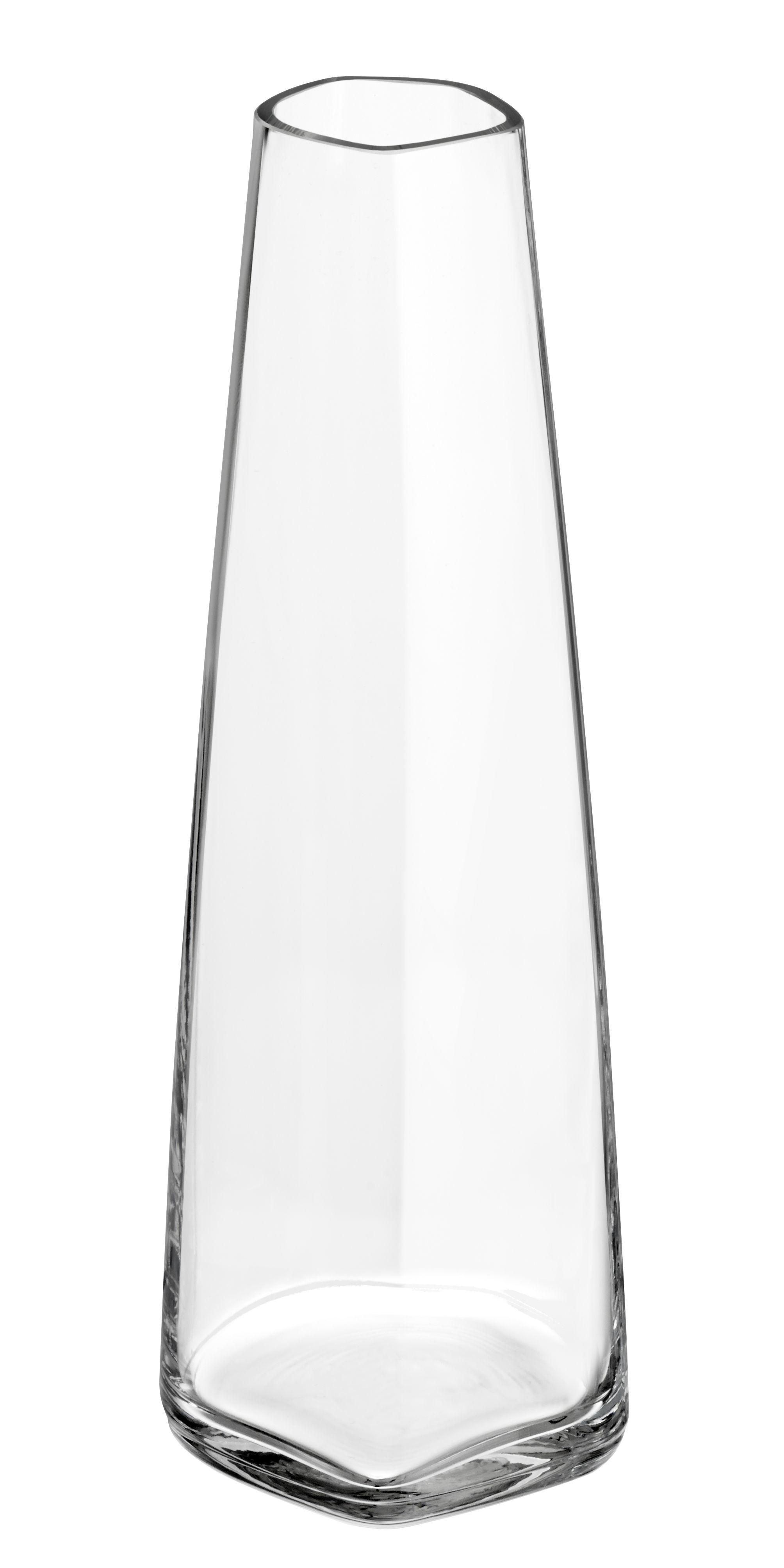 Decoration - Vases - Iittala X Issey Miyake Vase - H 18 cm by Iittala - Transparent - Mouth blown glass