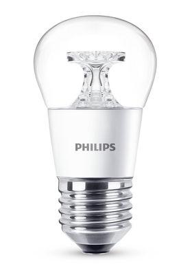 Ampoule LED E27 LED Sphérique Claire / 5,5W (40W) - 470 lumen - Philips transparent en verre