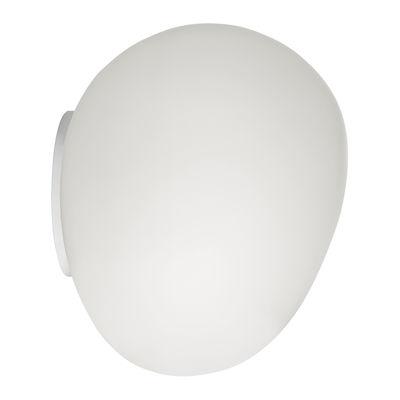 Luminaire - Appliques - Applique Gregg Midi LED / Plafonnier - Verre - L 21 cm - Foscarini - Blanc & base blanche - Métal verni, Verre soufflé
