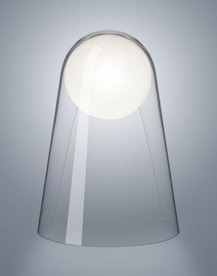 Luminaire - Appliques - Applique Satellight LED  / Verre soufflé bouche - Foscarini - Transparent / Sphère blanche - Verre soufflé bouche