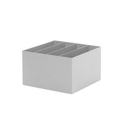 Bac compartimenté / Pour jardinière Plant Box - Prof. 25 cm - Ferm Living gris en métal