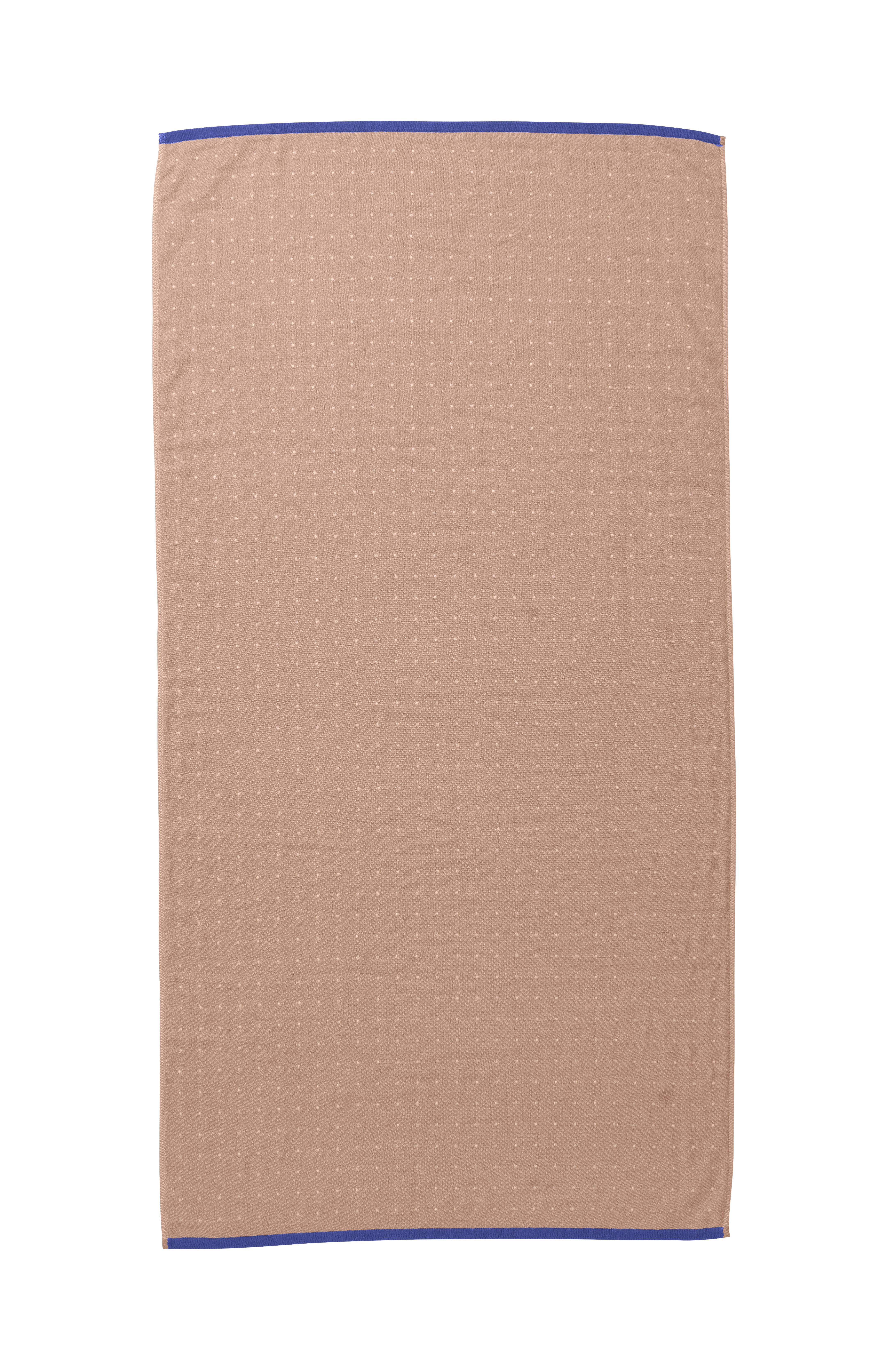 Dekoration - Wohntextilien - Sento Badelaken / Bio-Qualität - 140 x 70 cm - Ferm Living - Rosa - Baumwolle