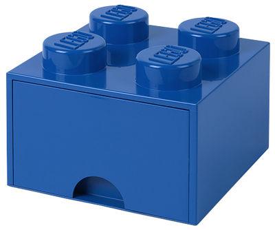 Decoration - Children's Home Accessories - Lego® Brick Box - / 4 studs - Stackable - 1 drawer by ROOM COPENHAGEN - Blue - Polypropylene
