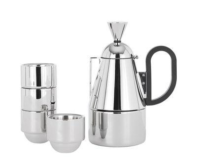 Cafetière italienne Brew 4 tasses espresso Tom Dixon acier poli en métal