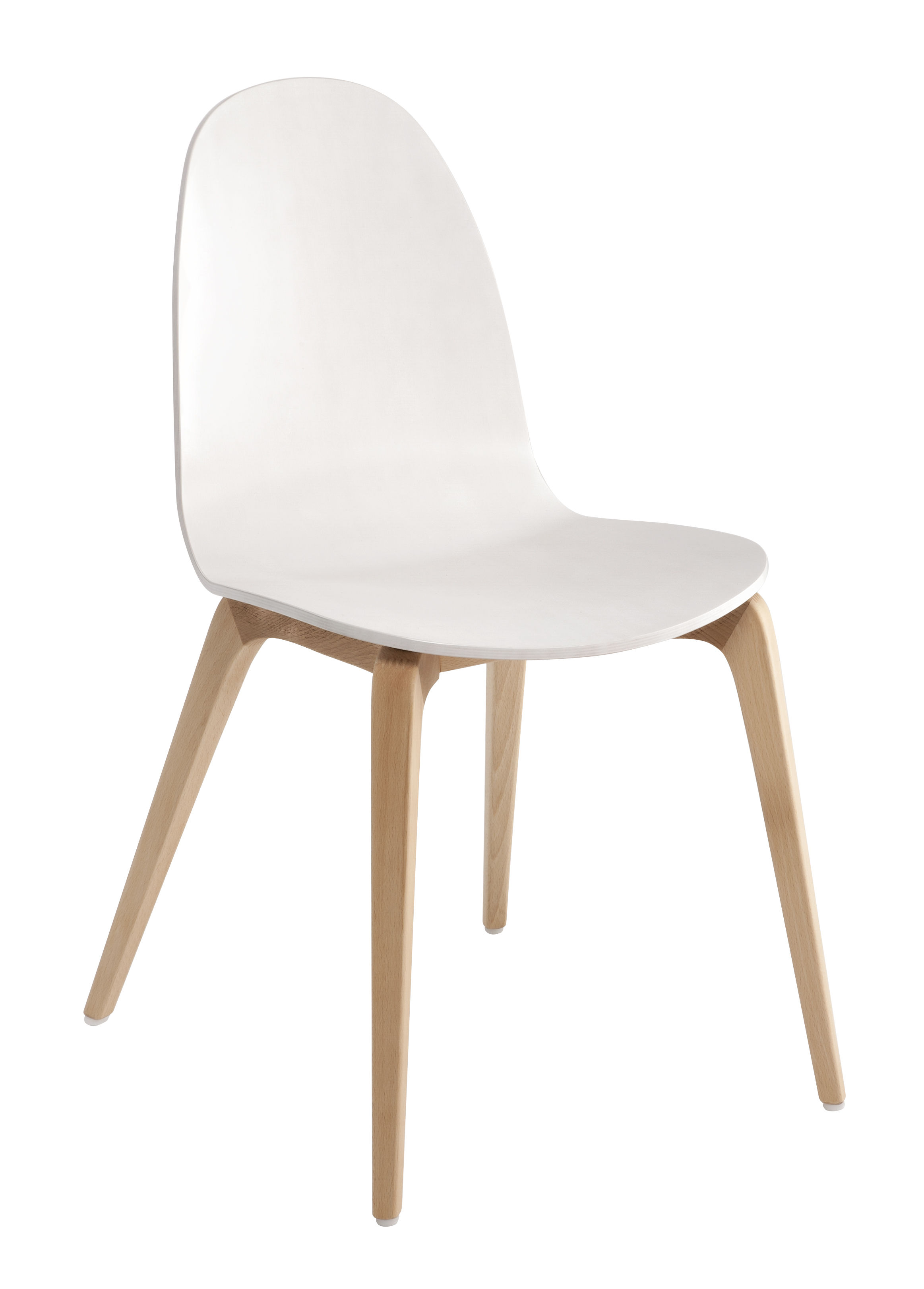 Chaise bob ondarreta blanc bois naturel made in design - Ikea chaise bois ...