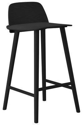 Chaise de bar Nerd H 65 cm Bois Muuto noir en bois