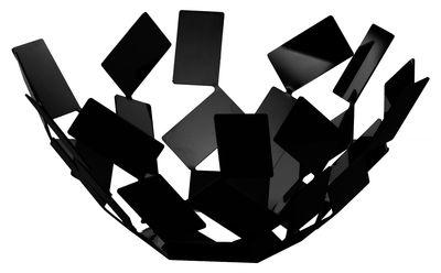 Corbeille La Stanza dello Scirocco / Ø 27 x H 13 cm - Alessi noir en métal