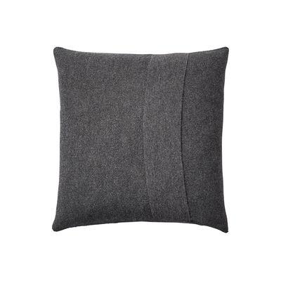 Decoration - Cushions & Poufs - Layer Cushion - / Hand-knitted baby llama wool - 50 x 50 cm by Muuto - Dark grey -  Plumes, Baby llama wool, Cotton