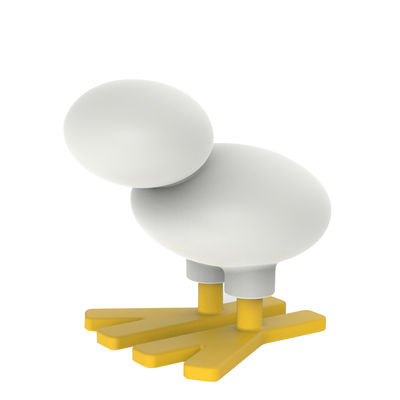Mobilier - Tabourets bas - Décoration Mini Happy bird / Tabouret enfant - H 44 cm - Magis Collection Me Too - Blanc / Jaune - Frêne massif, Polyéthylène