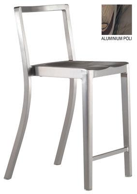 Möbel - Barhocker - Icon Indoor Hochstuhl - Emeco -  - Aluminium poli recyclé