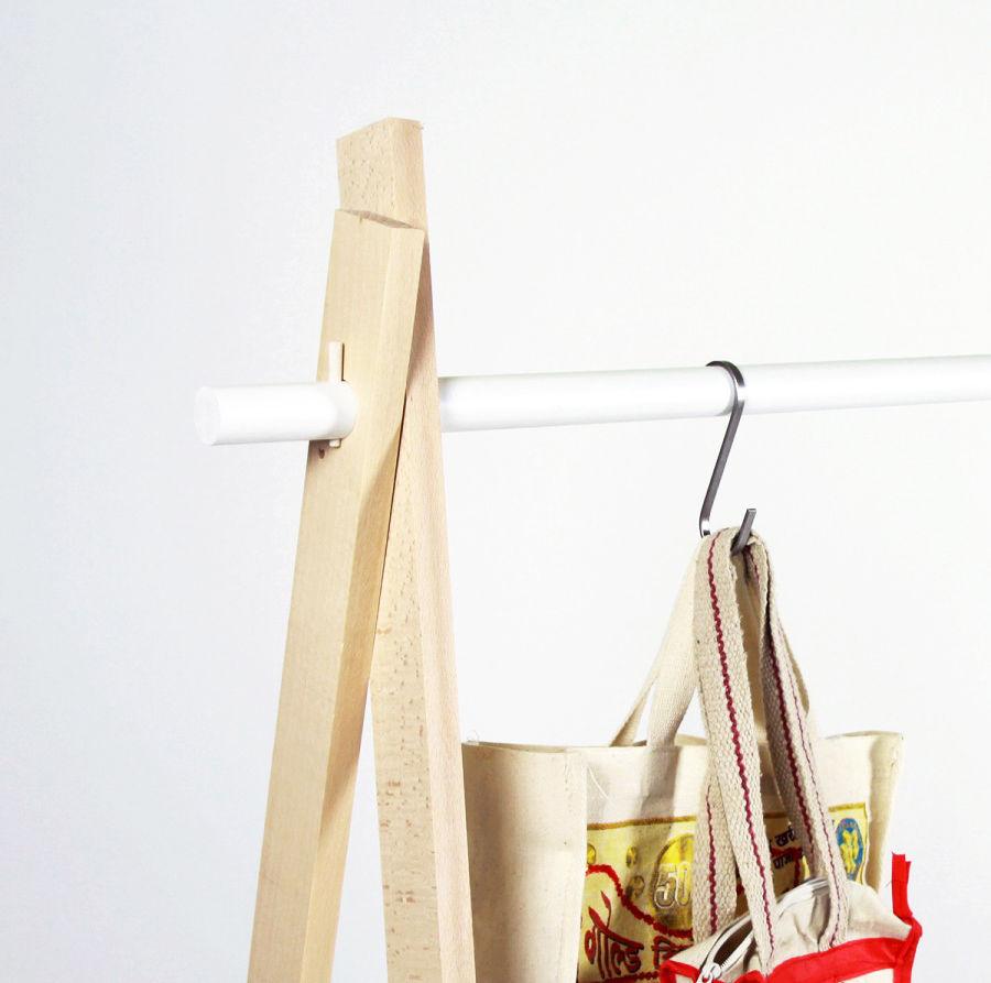 LeKit Large Kleiderständer - / L 166 cm x H 134 cm Buche & weiß ...