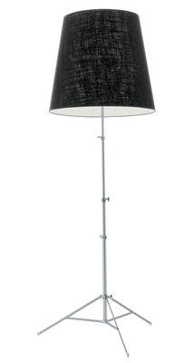 Image of Lampada a stelo Gilda di Pallucco - Nero - Metallo/Tessuto