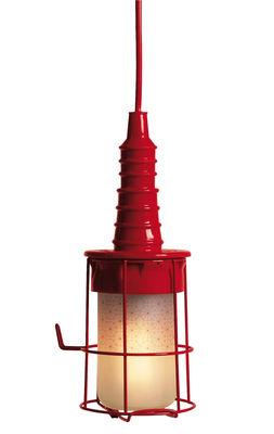 Illuminazione - Lampadari - Lampada Ubiqua - da sospensione o da appoggio di Seletti - Rosso - Metallo, Vetro