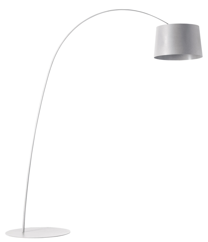 Luminaire - Lampadaires - Lampadaire Twiggy LED - Foscarini - Blanc - Fibre de verre, Matériau composite, Métal verni
