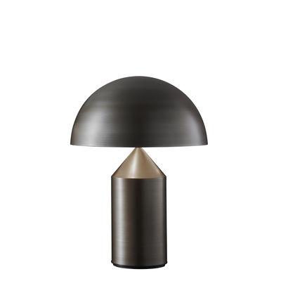Lampe de table Atollo Medium Métal / H 50 cm / Vico Magistretti, 1977 - O luce bronze en métal