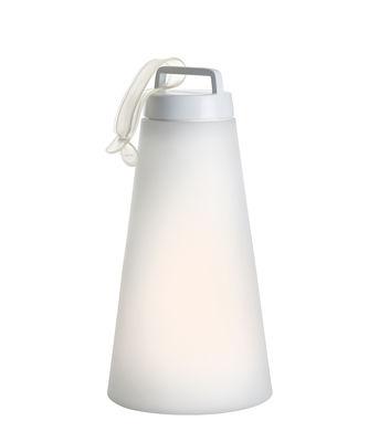 Luminaire - Lampes de table - Lampe sans fil Sasha Large / LED - H 41 cm - Carpyen - Blanc - Aluminium peint, Polyéthylène