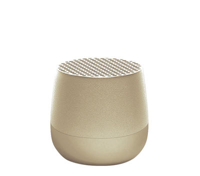 Product selections - Garden Party - Mino 3W Mini Bluetooth speaker - / Wireless - USB charging by Lexon - Gold - ABS, Aluminium