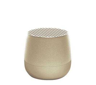 Accessori - Altoparlante & suono - Mini cassa acustica Bletooth Mino 3W - / Wireless - Ricarica USB di Lexon - Dorato - ABS, Alluminio