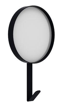 Mobilier - Portemanteaux, patères & portants - Miroir mural Hook / Patère - Ø 37 x H 51 cm - Universo Positivo - Noir - Métal laqué