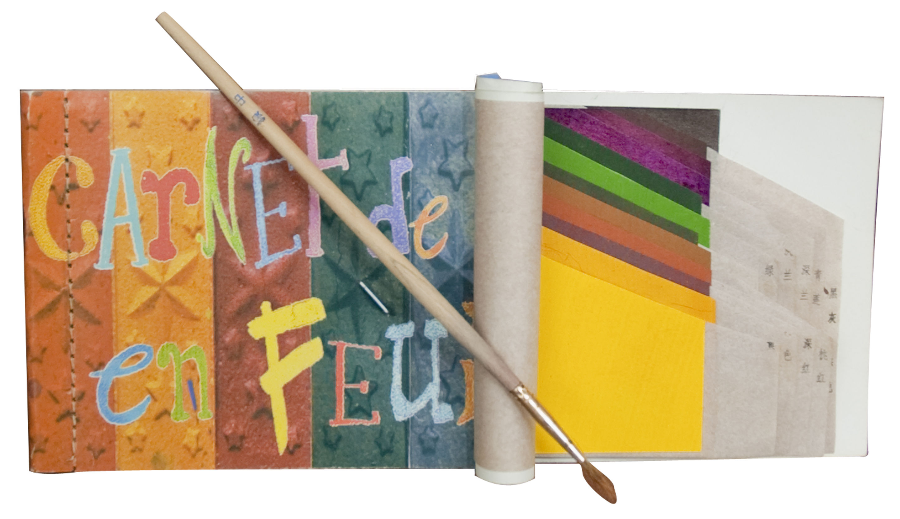 Decoration - Office - Carnet de couleur Notepad - Notebook + watercolour palette + paintbrush by Tsé-Tsé - Multicolored - Paper