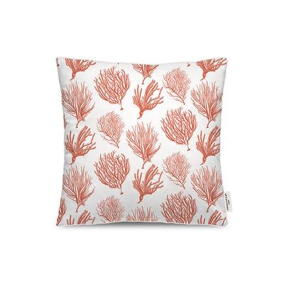 Dekoration - Kissen - Bali Outdoor-Kissen / 45 x 45 cm - PÔDEVACHE - Koralle / Orange - Polyesterfaser, Polystretch