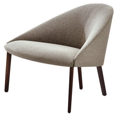 Furniture - Armchairs - Colina Medium Padded armchair by Arper - Light Grey - Structure : Dark Wood - Foam, Kvadrat fabric, Multiplis de bois, Wenge