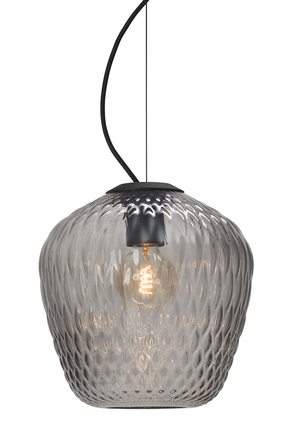 Lighting - Pendant Lighting - Blown Pendant by &tradition - Smoked - Metal, Mouth blown glass