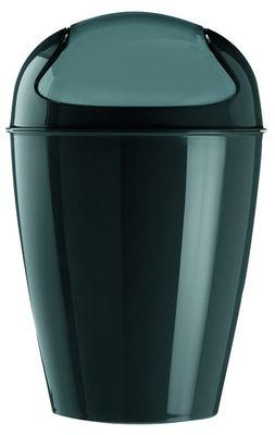 Poubelle Del XL / H 65 cm - 30 Litres - Koziol noir en matière plastique