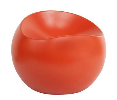 Arredamento - Poltrone design  - Pouf Ball Chair - / Finitura opaca di XL Boom - Mandarino opaco - ABS riciclato laccato