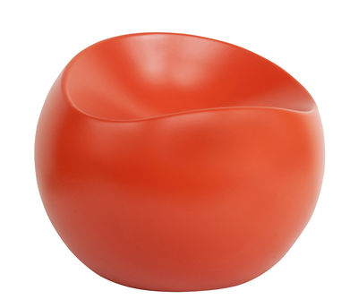 Pouf Ball Chair / Finition mate - XL Boom orange en matière plastique