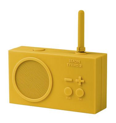 Accessoires - Réveils et radios - Radio sans fil Tykho 2 / Rechargeable USB - Lexon - Jaune - Gomme