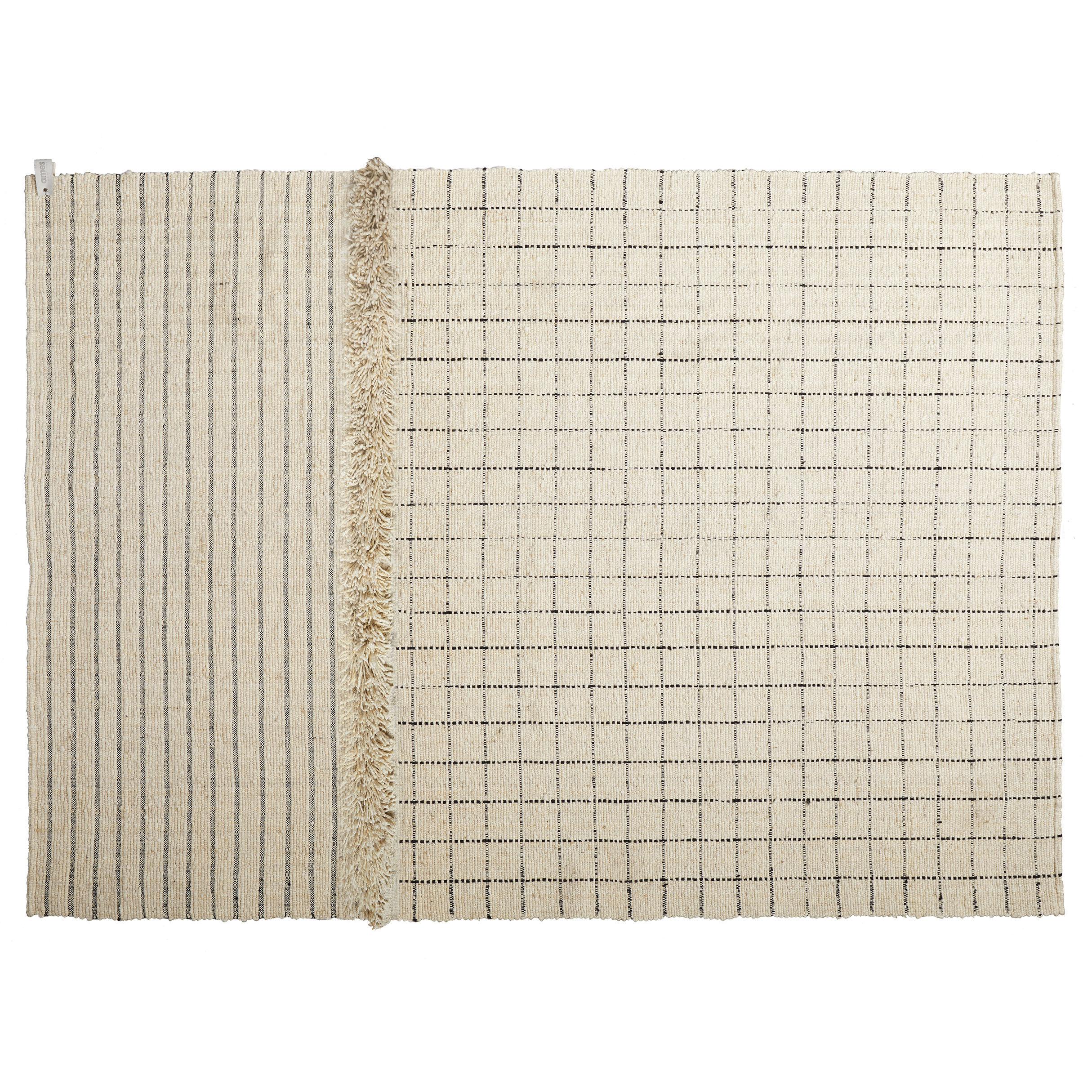 Decoration - Rugs - Subas Large - Karo Rug - / 420 x 310 cm - Wool by ames - 420 x 310 cm / Beige - Wool