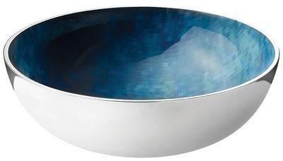 Tischkultur - Salatschüsseln und Schalen - Stockholm Horizon Salatschüssel / Ø 30 cm x H 10 cm - Stelton - Ø 30 cm - metallfarben / blau - Aluminium, Kaltemail