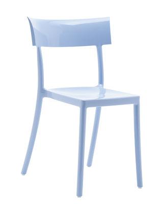 Arredamento - Sedie  - Sedia impilabile Generic Catwalk - / Policarbonato di Kartell - Blu - policarbonato