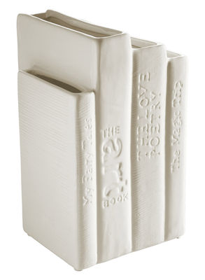 Déco - Vases - Serre-livres Biblio Tek / Vase - Seletti - Blanc - Porcelaine