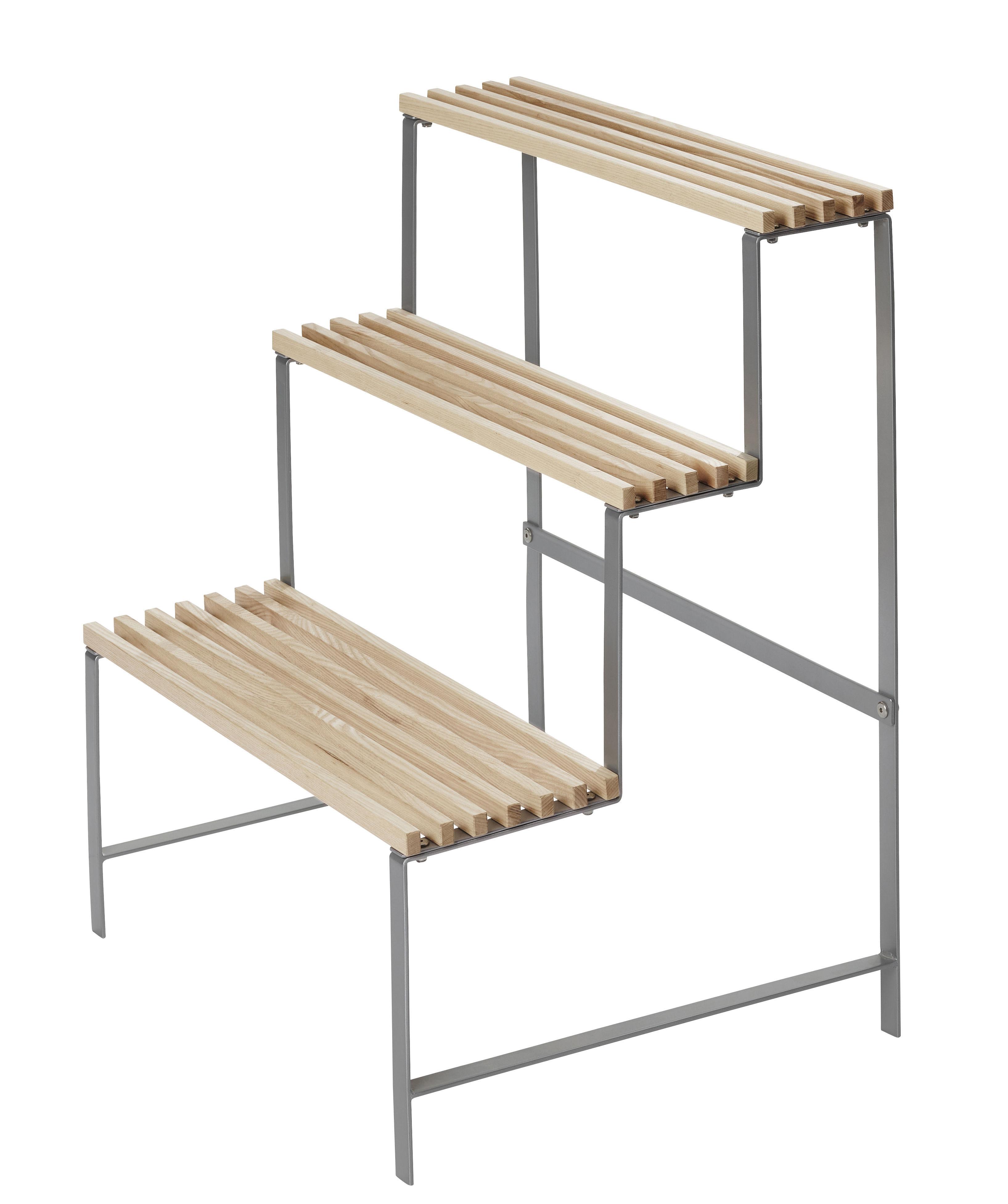 Furniture - Bookcases & Bookshelves - Flower Pot Stand Shelf by Design House Stockholm - Ash - Natural solid ash, Steel