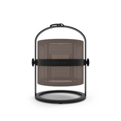 Lighting - Table Lamps - La Lampe Petite LED Solar lamp - Solar - Black structure by Maiori - Structure : Black - Diffuser : Taupe - Aluminium, Technical fabric
