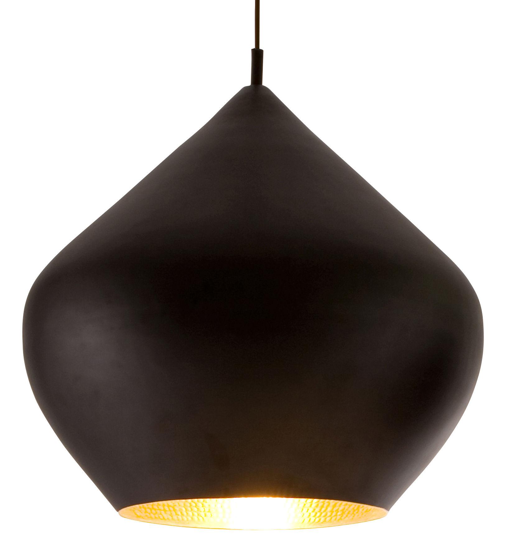 Illuminazione - Lampadari - Sospensione Beat Stout di Tom Dixon - Nero / interno dorato - Ottone