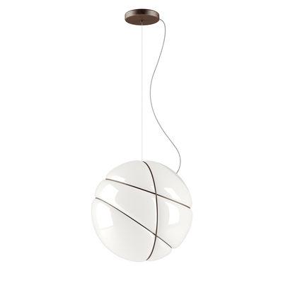 Suspension Armilla / Ø 36 cm - Verre - Fabbian blanc,brun en verre