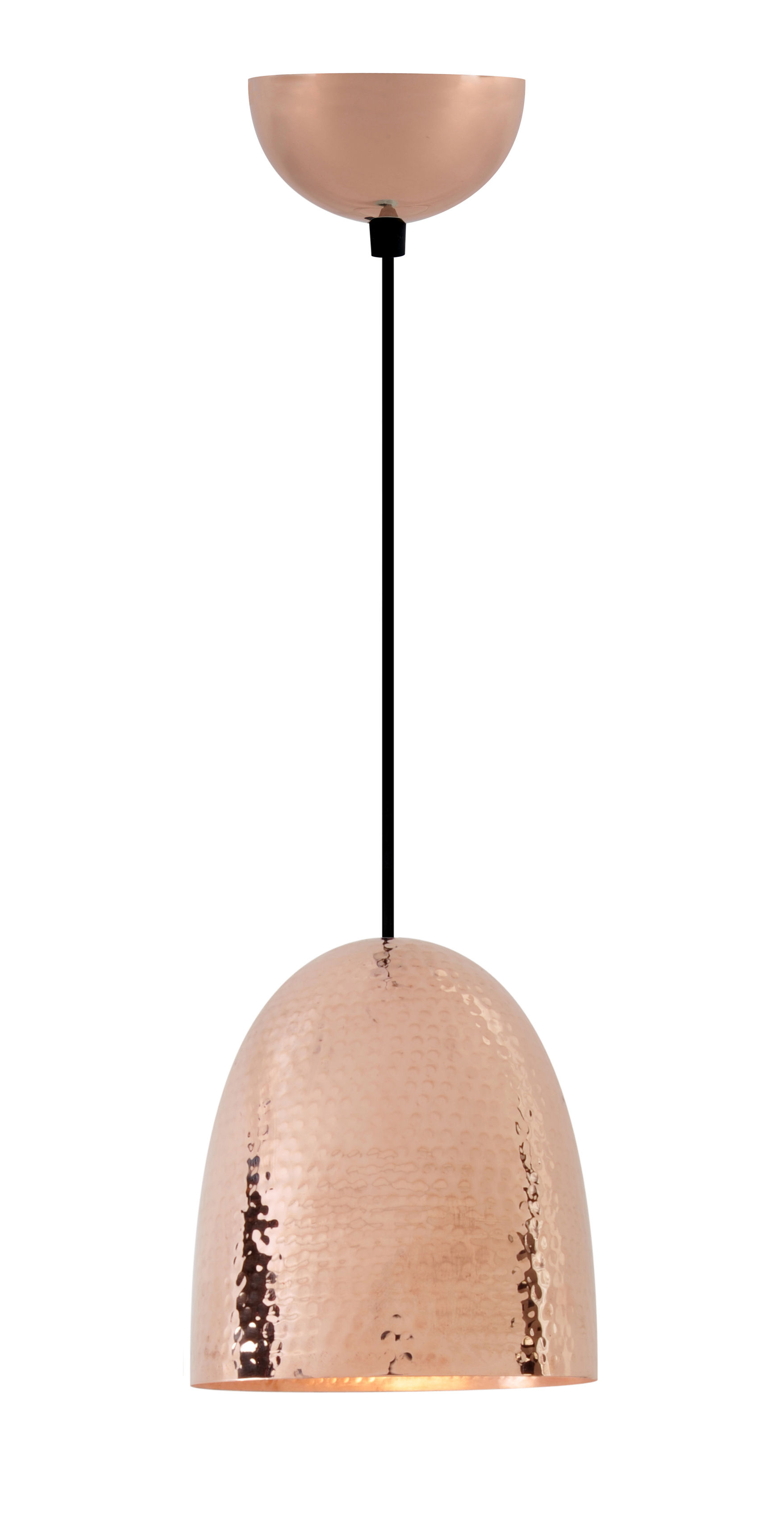 Luminaire - Suspensions - Suspension Stanley Small / Ø 18 x H 20 cm - Cuivre martelé - Original BTC - H 20 cm (Small) / Cuivre - Cuivre martelé