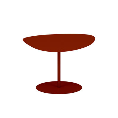 Table basse Galet n°2 OUTDOOR / 58 x 75 x H 39 cm - Matière Grise rouge/orange/marron en métal