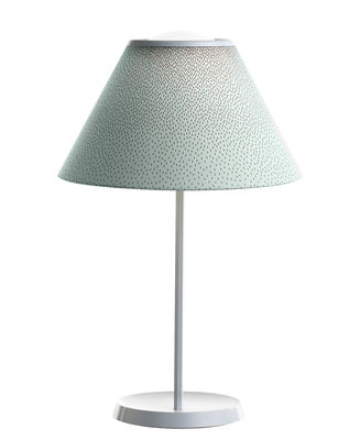 Lighting - Table Lamps - Cappuccina Table lamp - LED - Adjustable shade - H 57 cm by Luceplan - Green / Cochenille - Aluminium, Blown glass, Fabric