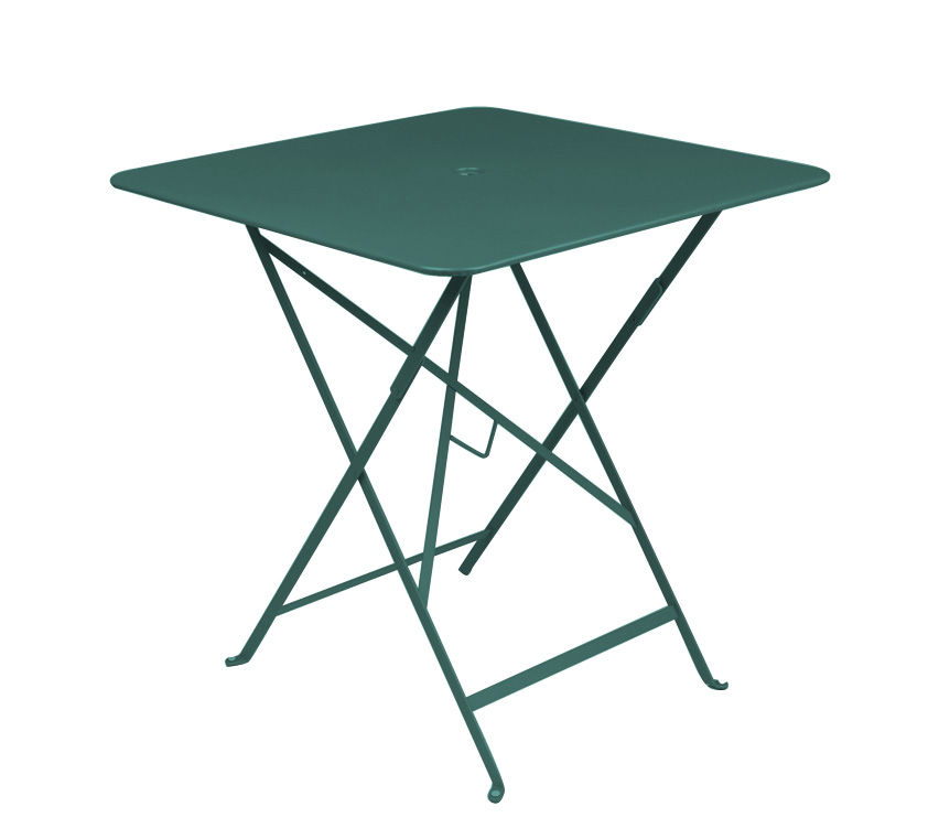 Outdoor - Tables de jardin - Table pliante Bistro / 71 x 71 cm - Trou pour parasol - Fermob - Cédre - Acier laqué