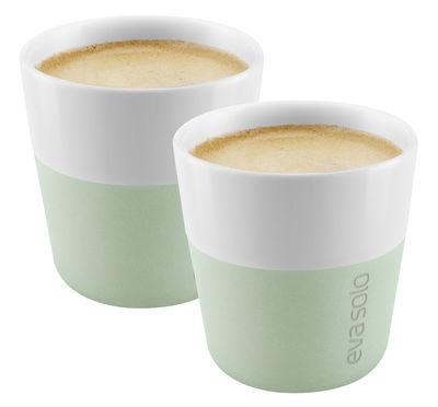 Tasse à espresso / Set de 2 - 80 ml - Eva Solo blanc,vert eucalyptus en céramique