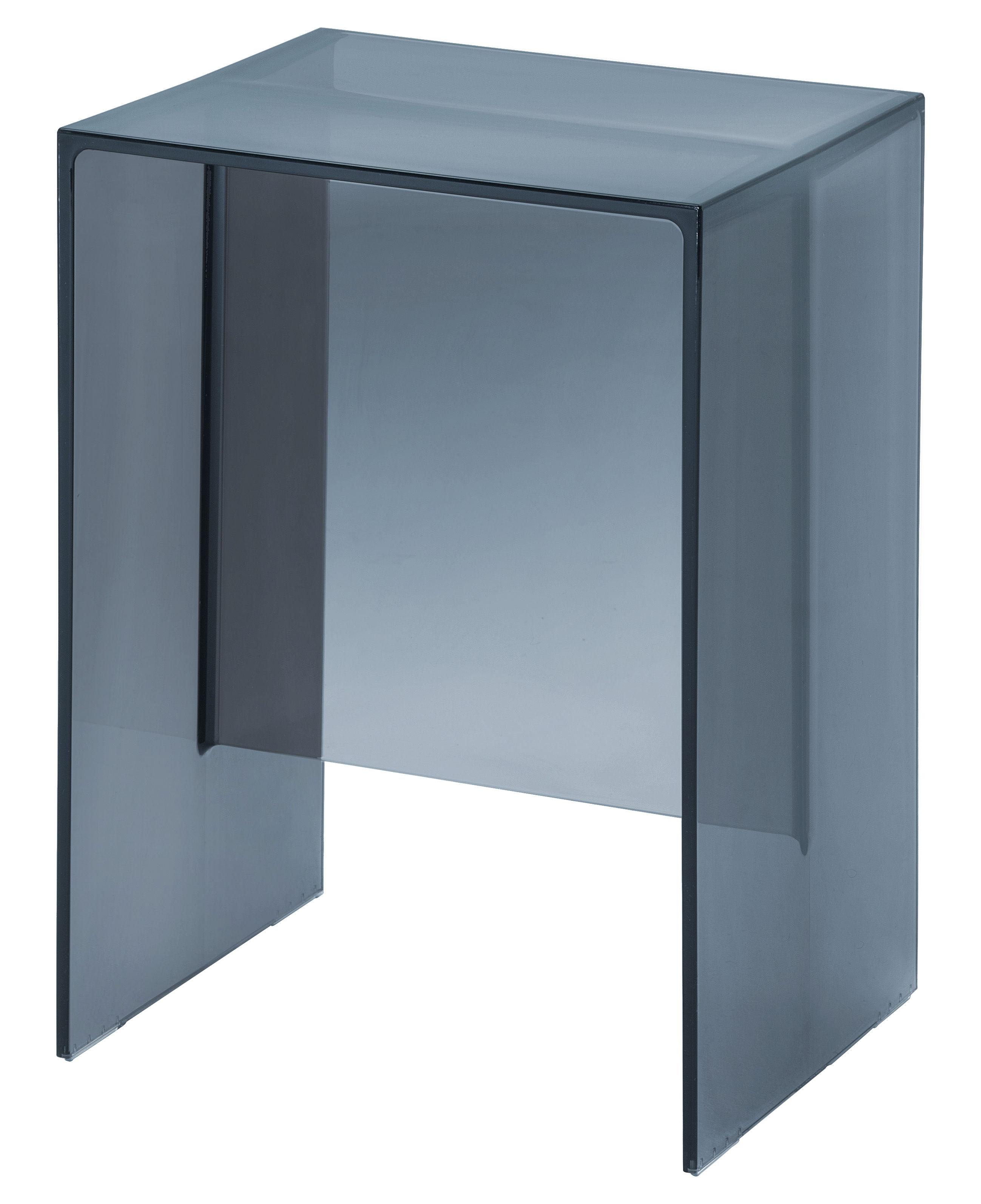 Arredamento - Tavolini  - Tavolino d'appoggio Max-Beam - / Sgabello - 33 x 27 cm di Kartell - Blu crepuscolo - PMMA